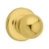 Kwikset Polo Polished Brass Residential Dummy Door Knob
