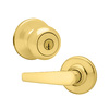 Kwikset Delta Polished Brass Residential Keyed Entry Door Lever