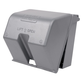 REDDOT 2-Gang Square Metal Electrical Box Cover