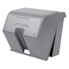 REDDOT 2-Gang Square Metal Weatherproof Electrical Box Cover