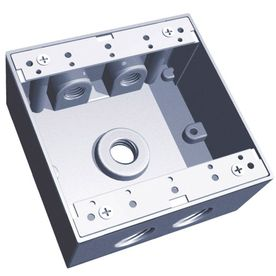 REDDOT 31-3/8 cu in 2-Gang Square Metal Electrical Box