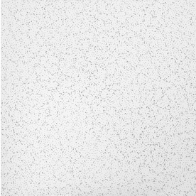 Armstrong Random Textured Contractor 16-Pack White Textured 15/16-in Drop Acoustic Panel Ceiling Tiles (Common: 24-in x 24-in; Actual: 23.719-in x 23.719-in)