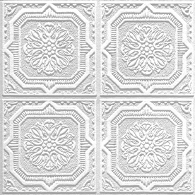 Armstrong 40-Pack Tin Look Wellington HomeStyle Ceiling Tile Panels (Common: 12-in x 12-in; Actual: 12.645-in x 12.645-in)