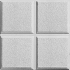 Armstrong Cascade HomeStyle 12-Pack White Patterned 15/16-in Drop Acoustic Panel Ceiling Tiles (Common: 24-in x 24-in; Actual: 23.719-in x 23.719-in)