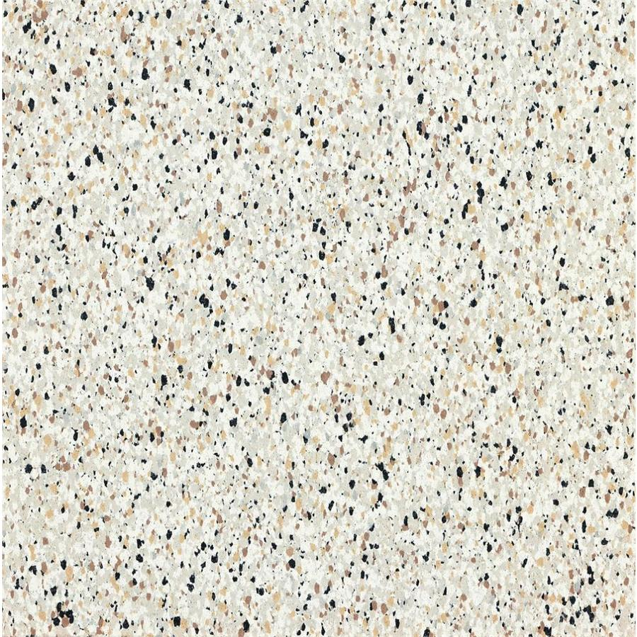 Shop armstrong 12 in x 12 in stone beige speckle pattern for Industrial stone vinyl tile