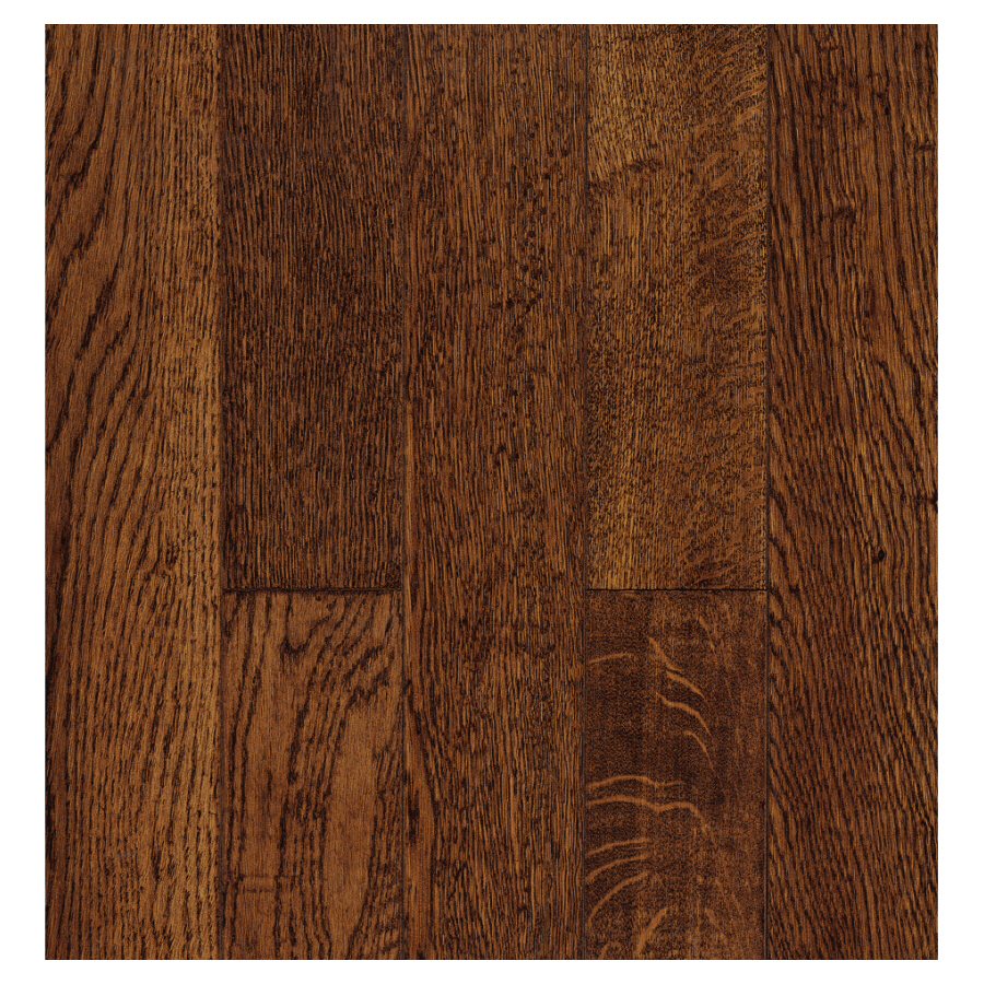 Shop bruce 5 in w x 59 in l oak solid hardwood flooring at for Real oak hardwood flooring