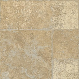 Armstrong Stones and Ceramics 15.94-in W x 3.98-ft L Antique Cream Embossed Laminate Tile and Stone Planks