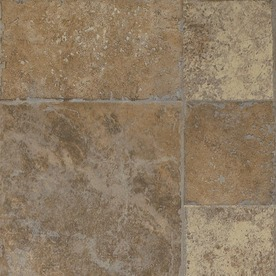 Armstrong Stones and Ceramics 15.94-in W x 3.98-ft L Earthen Copper Embossed Laminate Tile and Stone Planks