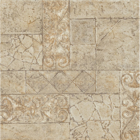 Shop Armstrong Terraza 12 In X 12 In Toledo Peel And Stick Ceramic Residential Vinyl Tile At