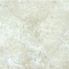 "Style Selections 12"" x 12"" Chalk Marble Finish Vinyl Tile"