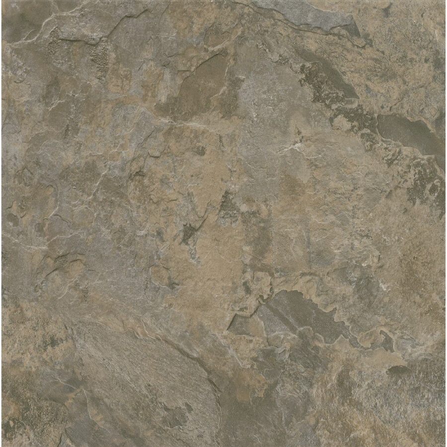Shop Armstrong Terraza 12 In X 12 In Gray Brown Peel And Stick Slate Finish Vinyl Tile At