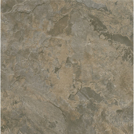 Style Selections 12-in x 12-in Gray/Brown Slate Finish Vinyl Tile
