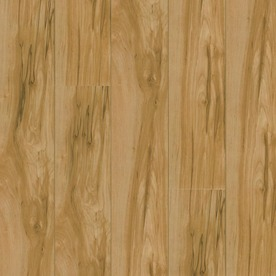 Armstrong High Gloss 4.92-in W x 3.97-ft L Caramel Birch High-Gloss Laminate Floor Wood Planks