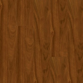 Armstrong High Gloss 4.92-in W x 3.93-ft L Santos Mahogany High-Gloss Laminate Floor Wood Planks