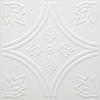 Armstrong Tin Look Circles HomeStyle 40-Pack White Patterned Surface-Mount Acoustic Ceiling Tiles (Common: 12-in x 12-in; Actual: 11.985-in x 11.985-in)