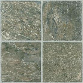 Style Selections 12-in x 12-in Tumbled Stone Slate Finish Vinyl Tile