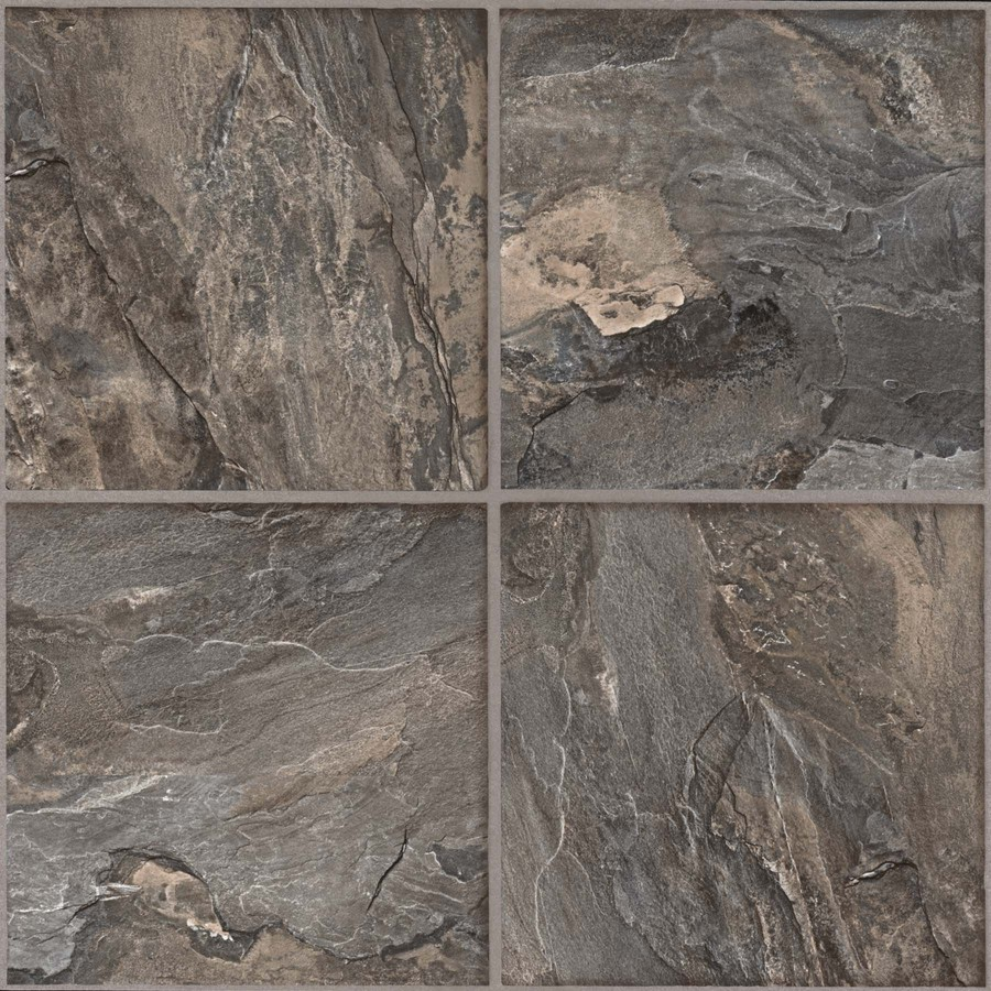 Shop Armstrong Terraza Grand Slate Gray Peel and Stick Residential