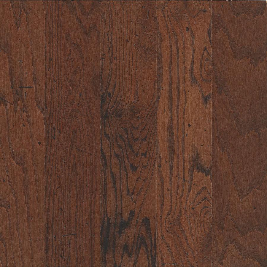 Shop bruce distressed 5 in w prefinished oak locking for Prefinished oak flooring