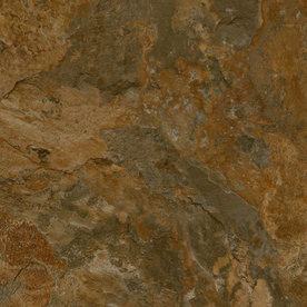Armstrong Terraza Grand 18-In x 18-In Iron Copper Peel-And-Stick Slate Finish Vinyl Tile