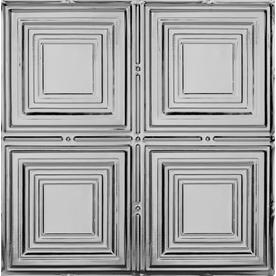 Armstrong 24-in x 24-in Metallaire Medium Panels Lay-In Ceiling Tile