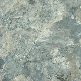 Armstrong Crescendo 12-in x 12-in Groutable French Gray Peel-and-Stick Stone Residential Vinyl Tile