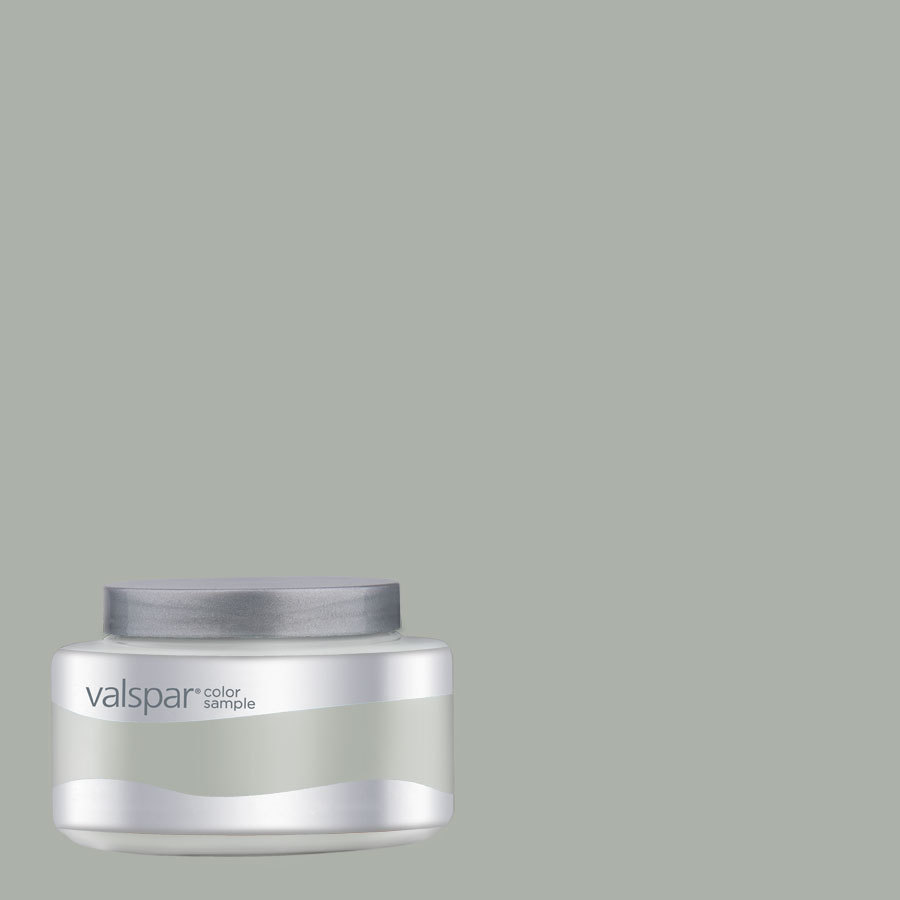 Shop Valspar 8 Oz Simply Gray Interior Satin Paint Sample At