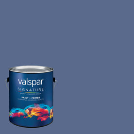 Creative Ideas for Color by Valspar Gallon Size Container Interior Matte Pre-Tinted Blue Hyacinth Latex-Base Paint and Primer in One (Actual Net Contents: 127.27-fl oz)