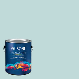 Creative Ideas for Color by Valspar Gallon Interior Matte Feeling Blue Paint and Primer in One