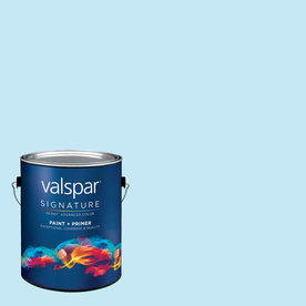 Creative Ideas for Color by Valspar Gallon Size Container Interior Matte Pre-Tinted Paradise Blue Latex-Base Paint and Primer in One (Actual Net Contents: 128.77-fl oz)