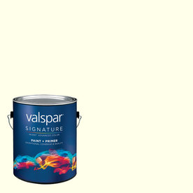 Creative Ideas for Color by Valspar Gallon Size Container Interior Matte Pre-Tinted Fresh Cotton Latex-Base Paint and Primer in One (Actual Net Contents: 128.1-fl oz)