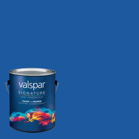 Creative Ideas for Color by Valspar Gallon Size Container Interior Matte Pre-Tinted Blue Ribbon Latex-Base Paint and Primer in One (Actual Net Contents: 128.19-fl oz)