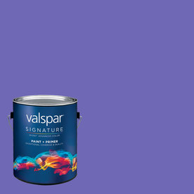 Creative Ideas for Color by Valspar Gallon Size Container Interior Matte Pre-Tinted Purpleberry Latex-Base Paint and Primer in One (Actual Net Contents: 127.76-fl oz)