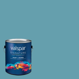 Creative Ideas for Color by Valspar 1-Gallon Interior Satin Blue Lagoon Latex-Base Paint and Primer in One