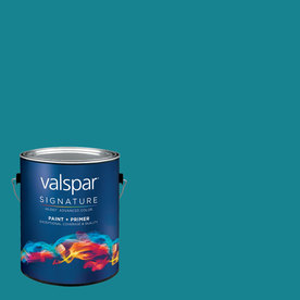 Creative Ideas for Color by Valspar Gallon Size Container Interior Satin Pre-Tinted Hang Ten Latex-Base Paint and Primer in One (Actual Net Contents: 127.53-fl oz)