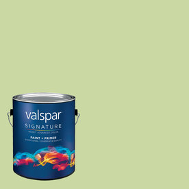 Creative Ideas for Color by Valspar Gallon Interior Semi-Gloss Shade Green Paint and Primer in One