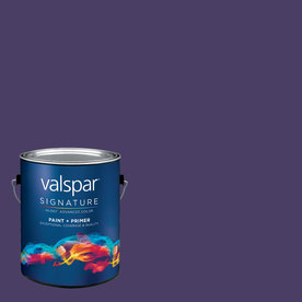 Creative Ideas for Color by Valspar Gallon Interior Semi-Gloss Purple Rain Paint and Primer in One