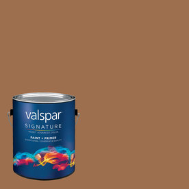 Creative Ideas for Color by Valspar Gallon Interior Semi-Gloss Cup Of Cocoa Paint and Primer in One
