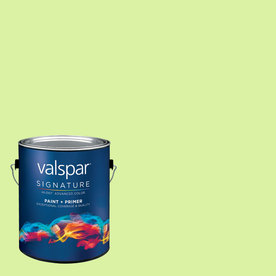 Creative Ideas for Color by Valspar Gallon Size Container Interior Semi-Gloss Pre-Tinted Soothing Aloe Latex-Base Paint and Primer in One (Actual Net Contents: 127.98-fl oz)
