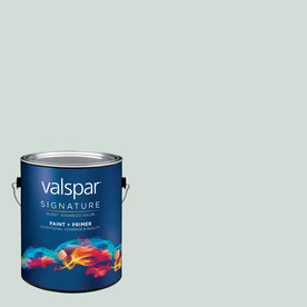 Creative Ideas for Color by Valspar Gallon Interior Semi-Gloss Sea Salt Blue Paint and Primer in One