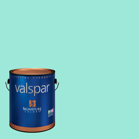 Creative Ideas for Color by Valspar Gallon Size Container Interior Semi-Gloss Pre-Tinted Cool Pool Latex-Base Paint and Primer in One (Actual Net Contents: 128.08-fl oz)