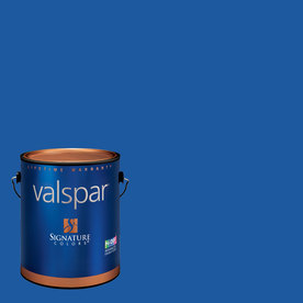 Creative Ideas for Color by Valspar Gallon Size Container Interior Semi-Gloss Pre-Tinted Blue Ribbon Latex-Base Paint and Primer in One (Actual Net Contents: 127.22-fl oz)