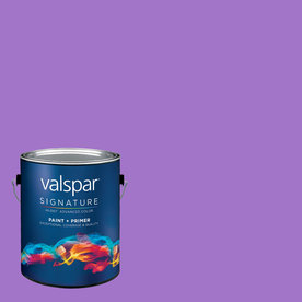 Creative Ideas for Color by Valspar Gallon Interior Semi-Gloss Wild Grape Paint and Primer in One