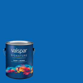Creative Ideas for Color by Valspar Gallon Size Container Interior Semi-Gloss Pre-Tinted Sky Dive Blue Latex-Base Paint and Primer in One (Actual Net Contents: 124.4-fl oz)