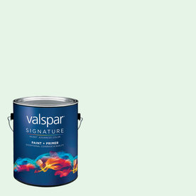 allen + roth Colors by Valspar Gallon Size Container Interior Satin Pre-Tinted Morning Jog Latex-Base Paint and Primer in One (Actual Net Contents: 129.21-fl oz)