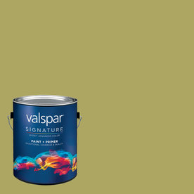 allen + roth Colors by Valspar Gallon Interior Semi-Gloss Mossy Bench Paint and Primer in One