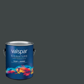 allen + roth Colors by Valspar Gallon Interior Semi-Gloss Tuxedo Tie Paint and Primer in One