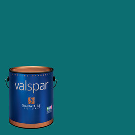 Valspar Gypsy Teal Matte Latex Interior Paint and Primer in One (Actual Net Contents: 126.94-fl oz)