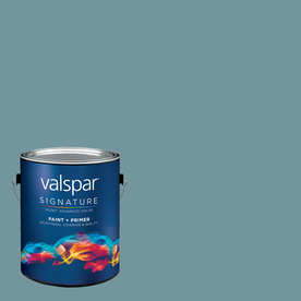 Valspar Gallon Interior Eggshell Flood Tide Paint and Primer in One