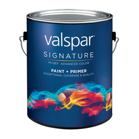shop valspar signature white eggshell latex interior paint and primer. Black Bedroom Furniture Sets. Home Design Ideas