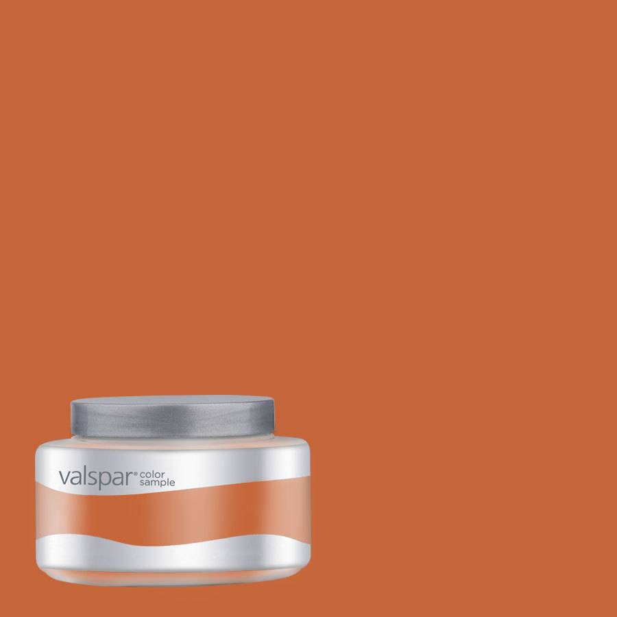 Valspar Pantone Burnt Orange Interior Satin Paint Sample At